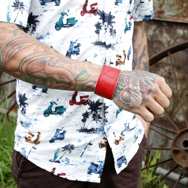 Créations Zö – Collection Printemps-Été 2014 - Bracelet homme cuir