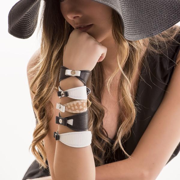 Bracelet cuir recyclé 2015, Créations Zö
